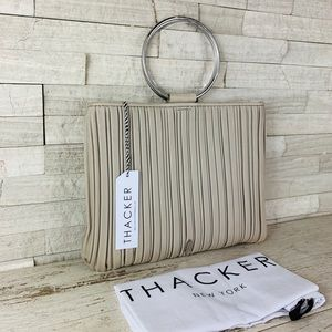 Thacker NWT Leather Le Pouch Bag Mist/Nickel $168